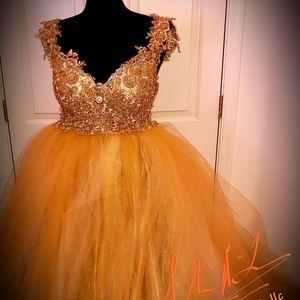 DELIA Custom Order Gatsby Gold Bridal Ballgown